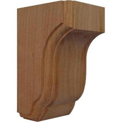Ekena Millwork 3.5-in x 6.5-in Alder Capistrano Mission Wood Corbel