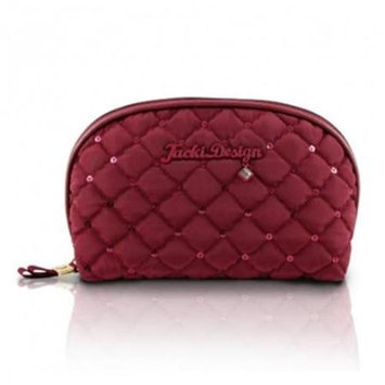 Jacki Design ABC15018RD Bella Donna Dome Cosmetic Bag Red