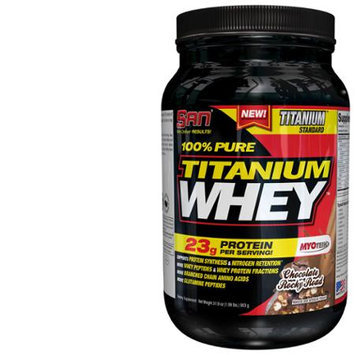 San Nutrition SAN 100% Pure Titanium Whey Rocky Road Supplement, Chocolate, 2 Pound