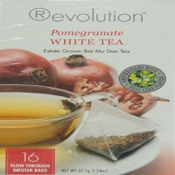 Revolution Tea White Pomegranate Tea, 16-Count Teabags (Pack of 6)