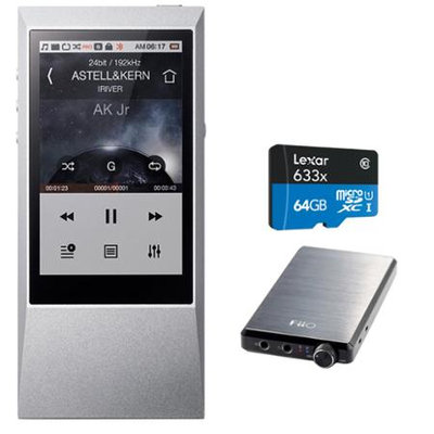 Astell & Kern AK Jr. Hi-Res 64GB Music Player w/ FiiO E12 Headphone Pro Amps Bundle