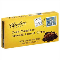 Chocolove TOFFEE, ALMD, DK CHOC CVRD, (Pack of 6)