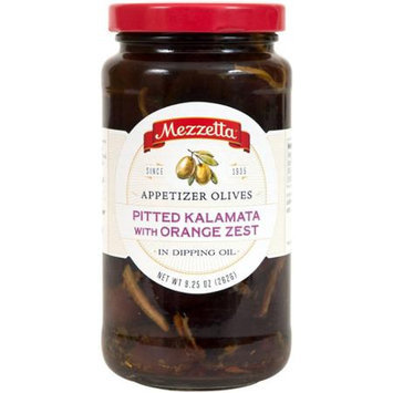 Mezzetta 9.25 oz. Appetizer Olives - Pitted Kalamata With Orange Zest Case Of 6