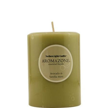 None Essential Avocado and Vanilla Mint Candle