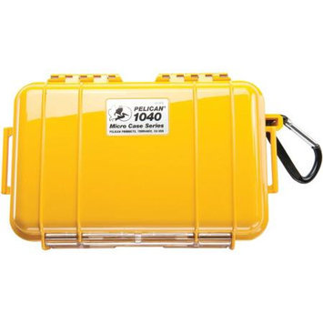 Pelican 1040 Watertight Hard Micro Case with Rubber Liner - Yellow