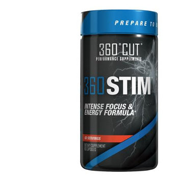 360CUT 360STIM Maximum Strength Concentration/Focus & Alertness Formula, 60 Serv