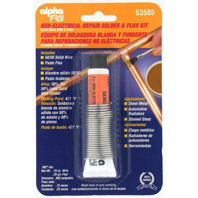 Fry Technologies Cookson Elect AM53505 50/50 Solid Wire Solder and Flux