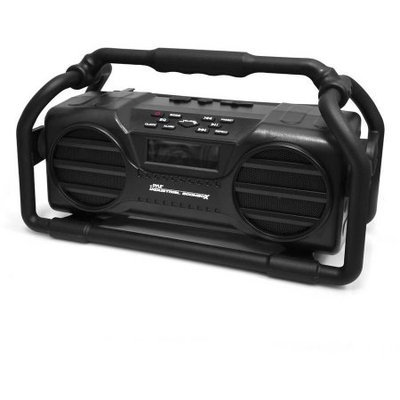 Pyle Splash Proof Heavy Duty Industrial Bluetooth Boom Box with USB/ SD/ MP3/ FM Radio