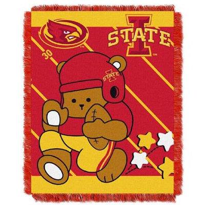 Iowa State Cyclones NCAA Triple Woven Jacquard Throw (Fullback Baby Series) (36x48)