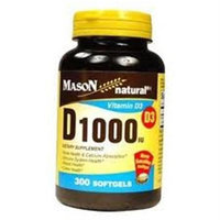 Mason Natural, Vitamin D 1000 IU, 300 Softgels