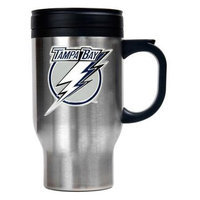 Great American Products Tampa Bay Lightning NHL Stainless Steel Travel Mug Primary Logo