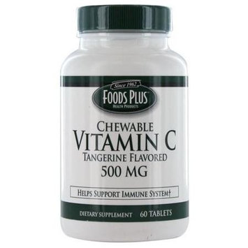 Prilosec Vitamin C-500mg Chewable Tablets, Tangerine Flavored - 60 Ea
