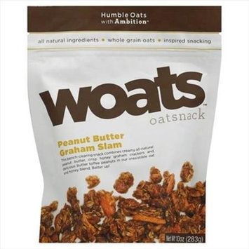 Woats 10 oz. Oatsnack Peanut Butter Graham Slam - Case Of 9