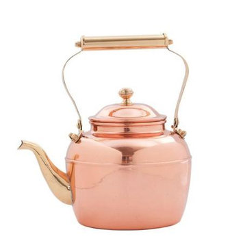 Old Dutch 2.5 qt. Solid Copper Tea Kettle with Brass Handle 887