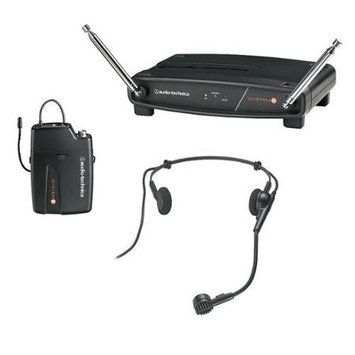 Audio-Technica ATW-801/H System 8 VHF Headset Microphone System - Black