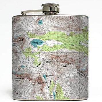Off the Map - Liquid Courage Flasks - 6 oz. Stainless Steel Flask