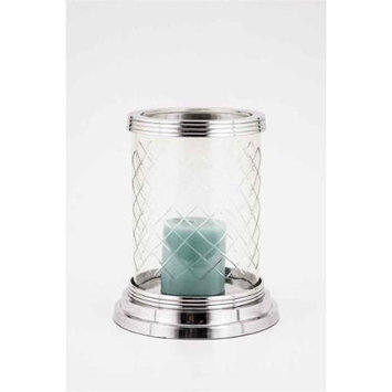 Horizon Interseas Inc H-1046 ELIZABETH DIAMOND CUT GLASS HURRICANE LAMP