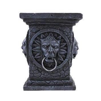 Zeckos Gothic Tabletop Column Pillar Candle Stand