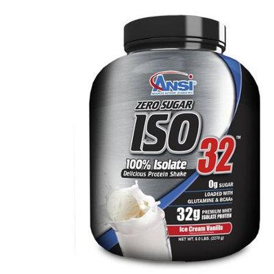 ANSI Advanced Nutrient Science - Iso 32 Whey Protein Isolate Powder Ice Cream Vanilla - 5 lbs.