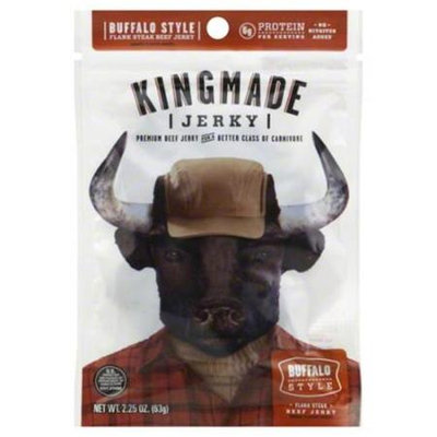 Kingmade Jerky Buffalo Style 2.25 Oz Pack Of 8