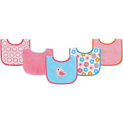 Baby Vision Luvable Friends 5 Pack Character Bibs with Waterproof Backing - Yellow
