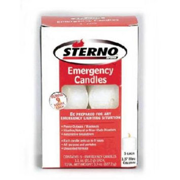 Sterno 40258 1.5 in. Column Unscented Sterno Emergency Candles 6 Pack
