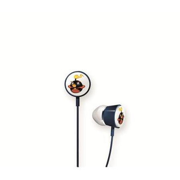 Gear4 HAB009G In-Ear Angry Birds Space Earbuds, Black