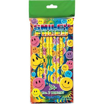 DesignWay #2 Smiley Face Pencils, 24/Pack