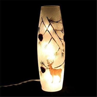 DecorFreak Long Glass Jar - With Deer