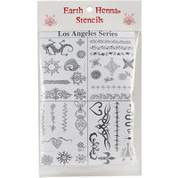 Earth Henna Stencil Pack Assorted, Assorted 1 unit