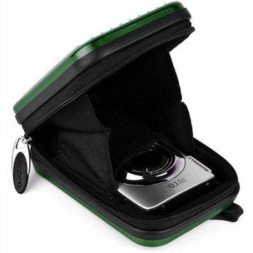 VanGoddy Green Metallic Pascal Hardshell Aluminum Cube for Digital Cameras