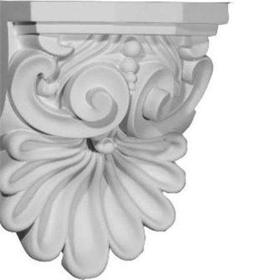Ekena Millwork 6.375-in x 9-in Quentin Shell Polyurethane Corbel COR06X05X09QU