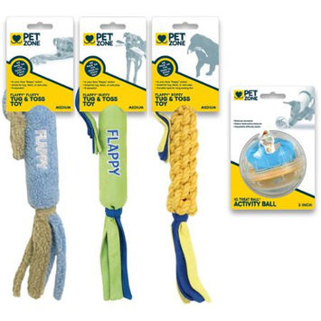 Ourpet's Company Pet Zone Medium Dog Interactive Dog Toys -(Pack of 4)