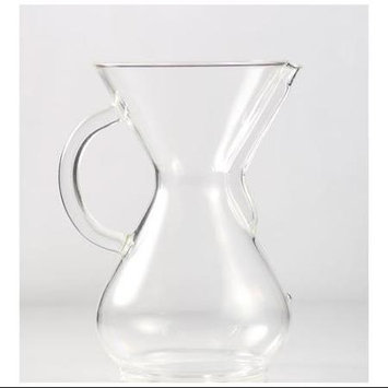 Chemex Six Cup Glass Coffee Maker with Glass Handle - 6 Cup Coffee Maker