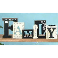 StealStreet Cutout Word Collectible Family with Tea Light Candle Holder