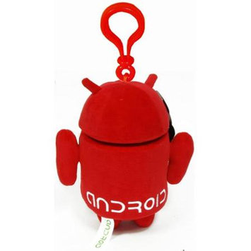 Commonwealth Toy Android Plush Backpack Clip: Red