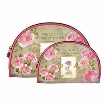 Africanamericanexpressions With God Roses 2 Piece Cosmetic Bag Set