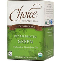 Choice Organic Teas - Decaffeinated Green Tea - 16 Tea Bags