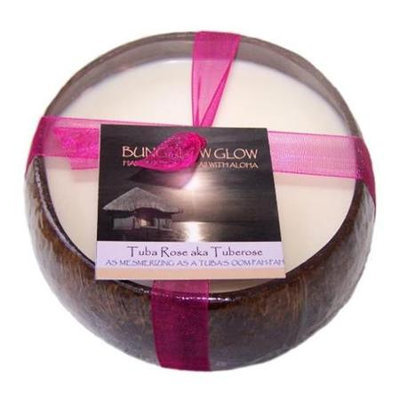Bubble Shack Hawaii 492773501547 Tuba Rose Coconut Candles - Pack of 2