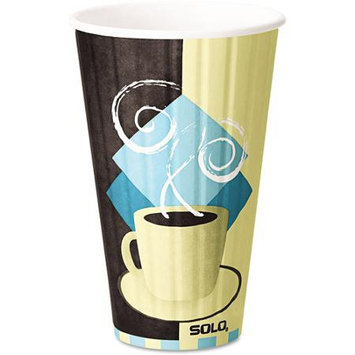 SOLO Cup Company Duo Shield 16 Ounce Hot Insulated Paper Cups, 525ct