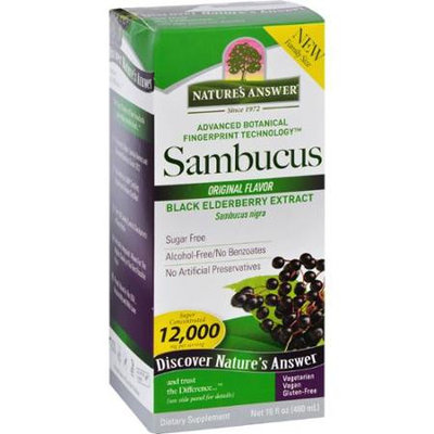 Nature's Answer SAMBUCUS, ORIG FLVR, FAM SZ