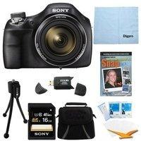 Sony DSC-H400/B 63x Optical Zoom 20.1MP HD Video Digital Camera Kit