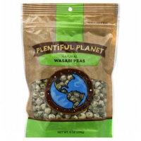 Plentiful Planet Snck Wasabi Pea Bag 10 OZ (Pack of 6)