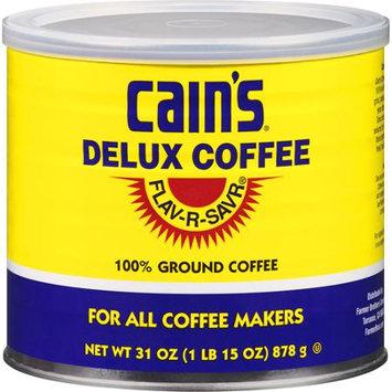 Cain's Custom Cain's Delux Ground Coffee, 31 oz