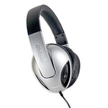 SYBA Multimedia Oblanc Cobra Silver Subwoofer Headphone W/In-line Microphone