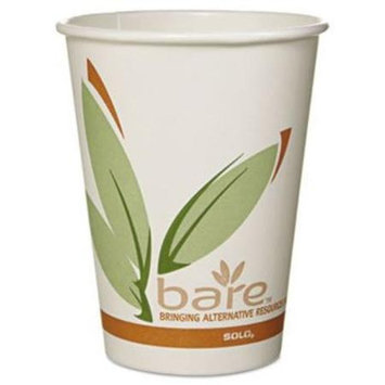 SOLO Cup Company Bare PCF Paper Hot Cups, 12 oz, 50/Pack