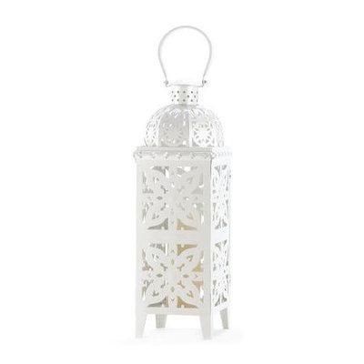 Vgce Giant Size White Metal Medallion Candle Lantern 25