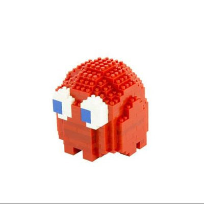Pac-Man Ghost Blinky Pixel Bricks Constructible Figure