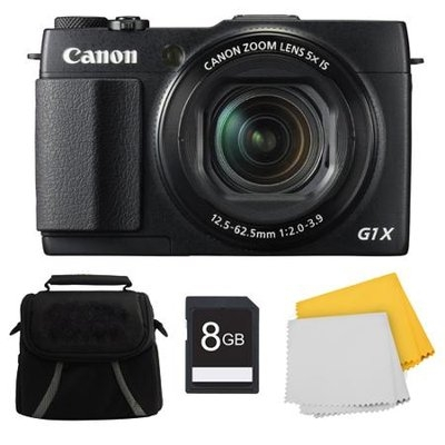Canon PowerShot G1 X Mark II Digital Camera 8GB Kit