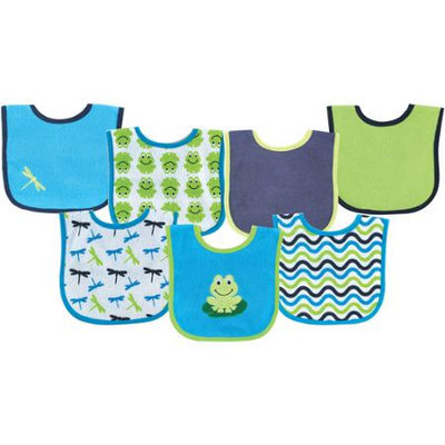 Baby Vision Luvable Friends 7 Pack Bold Sayings Baby Bibs - Blue
